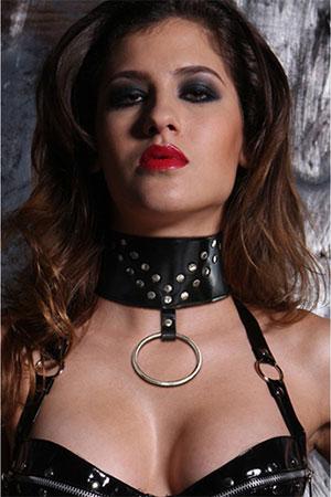 BDSM Collare in pelle Neck Nero 1